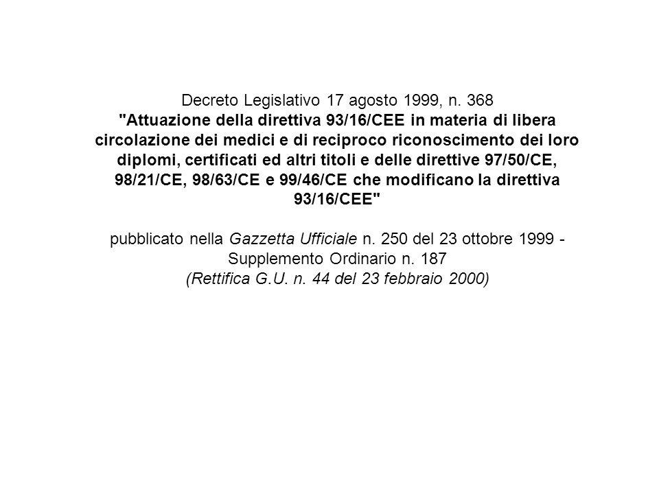 Decreto Legislativo 17 agosto 1999, n.