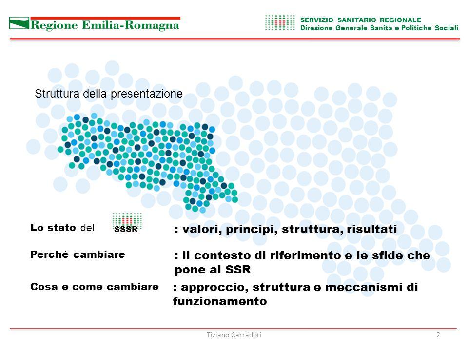 Tiziano Carradori3 SERVIZIO SANITARIO REGIONALE Direzione Generale Sanità e Politiche Sociali DOVE SIAMO