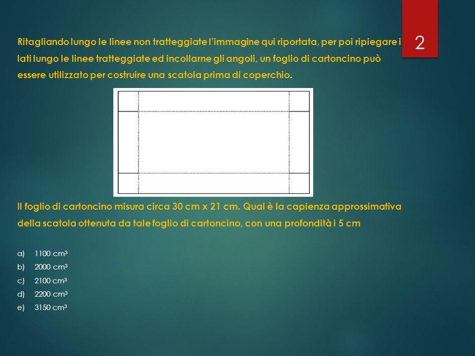 Ritagliando lungo le linee non tratteggiate l'immagine qui riportata, per poi ripiegare i lati lungo le linee tratteggiate ed incollarne gli angoli, u