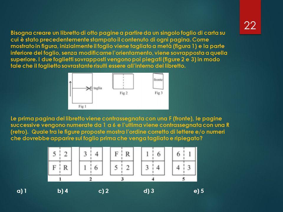 Bisogna creare un libretto di otto pagine a partire da un singolo foglio di carta su cui è stato precedentemente stampato il contenuto di ogni pagina.