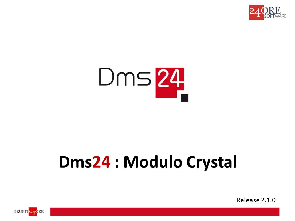Dms24 : Modulo Crystal Release 2.1.0