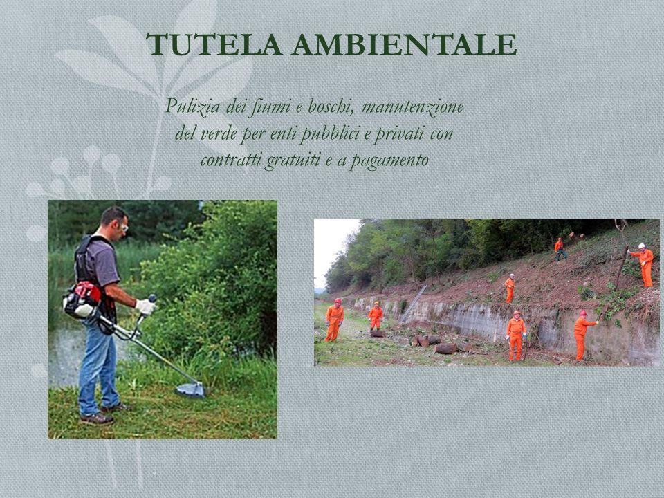 TUTELA AMBIENTALE Pulizia dei fiumi e boschi, manutenzione del verde per enti pubblici e privati con contratti gratuiti e a pagamento