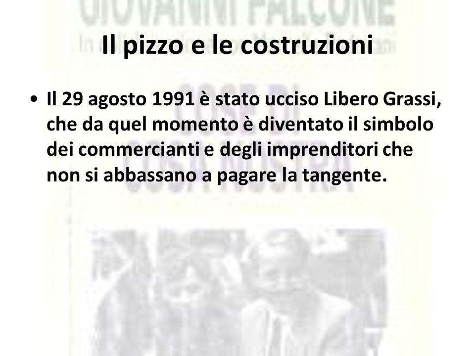 Il pizzo e le costruzioni Il 29 agosto 1991 è stato ucciso Libero Grassi, che da quel momento è diventato il simbolo dei commercianti e degli imprendi