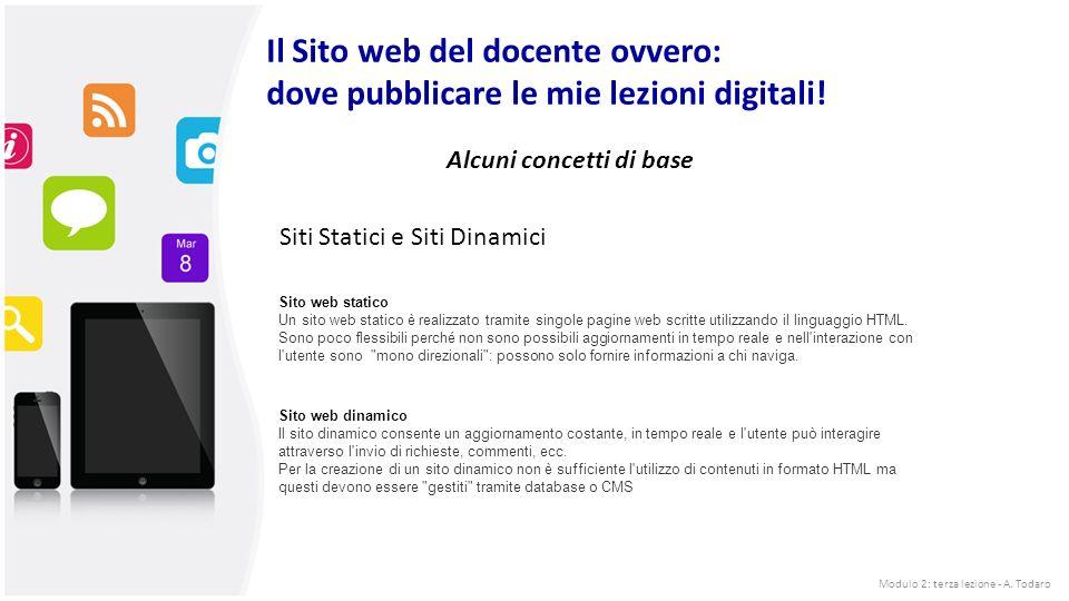 Il Sito web del docente ovvero: dove pubblicare le mie lezioni digitali.