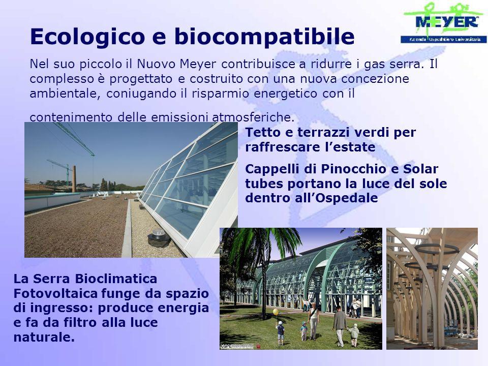 Ecologico e biocompatibile Nel suo piccolo il Nuovo Meyer contribuisce a ridurre i gas serra. Il complesso è progettato e costruito con una nuova conc