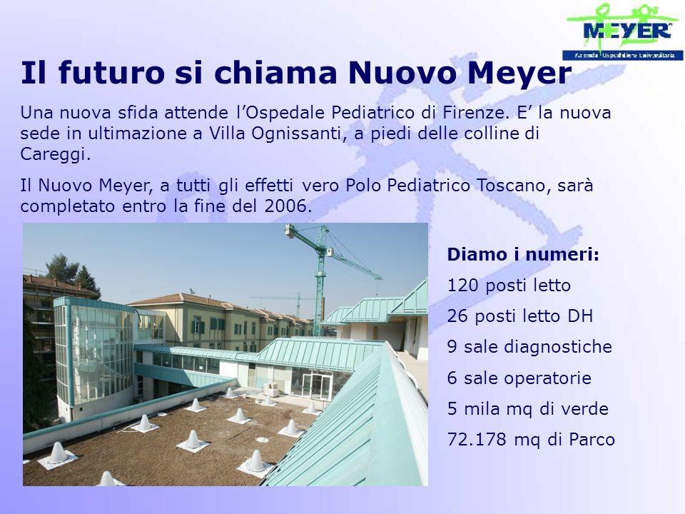 Il futuro si chiama Nuovo Meyer Una nuova sfida attende l'Ospedale Pediatrico di Firenze. E' la nuova sede in ultimazione a Villa Ognissanti, a piedi