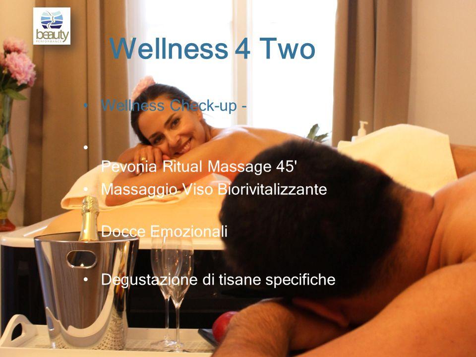 Wellness 4 Two Wellness Check-up - Pevonia Ritual Massage 45 Massaggio Viso Biorivitalizzante Docce Emozionali Degustazione di tisane specifiche