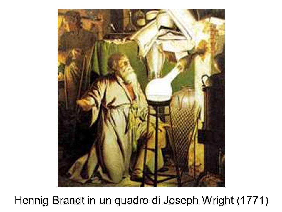 Hennig Brandt in un quadro di Joseph Wright (1771)