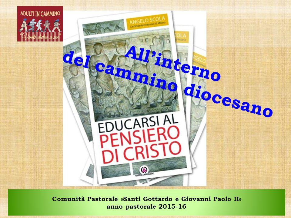 Comunità Pastorale «Santi Gottardo e Giovanni Paolo II» anno pastorale 2015-16 All'interno del cammino diocesano