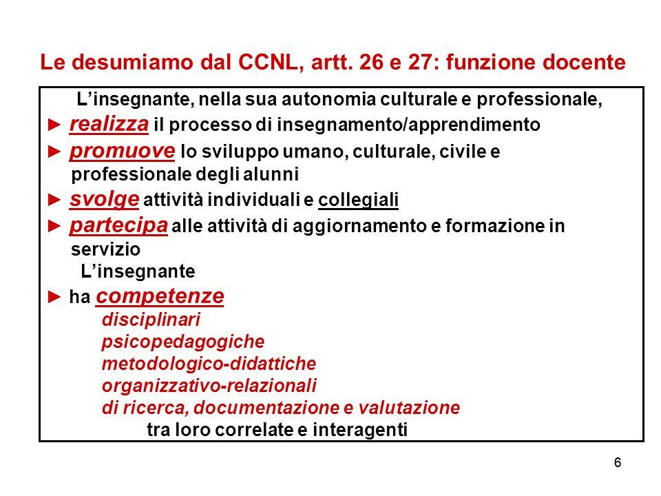 66 Le desumiamo dal CCNL, artt.