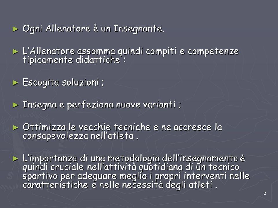 43 Pertanto DEFINIRE CON PRECISIONE LE ABILITA' E LE AZIONI CHE UN ATLETA, AL TERMINE DI UN PIANO DI FORMAZIONE SPORTIVA DEVE SAPER REALIZZARE.