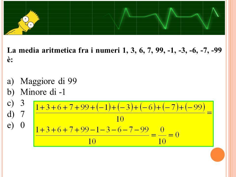 Nell'insieme dei numeri reali la disequazione,  2x - 3  ≤ 0 è verificata per: a) x < 3/2 b) per nessuna x reale c) per tutte le x reali d) x = 3/2 e) x > 3/2