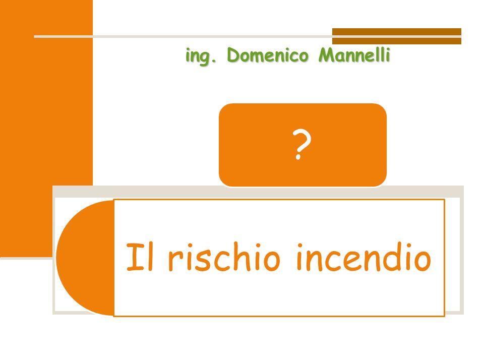 Il rischio incendio ? ing. Domenico Mannelli
