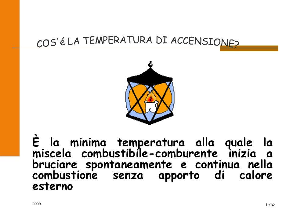 2008 6/53 È la minima temperatura alla quale il combustibile emette vapori in quantità tale da formare con il comburente una miscela incendiabile.