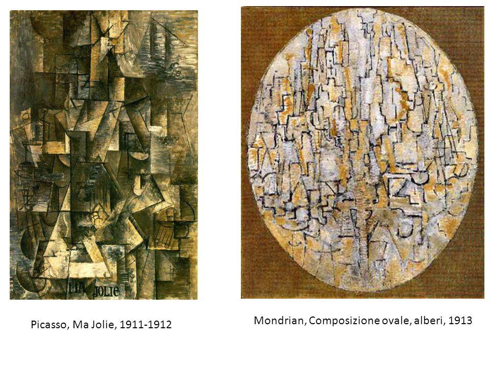 Picasso, Ma Jolie, 1911-1912 Mondrian, Composizione ovale, alberi, 1913