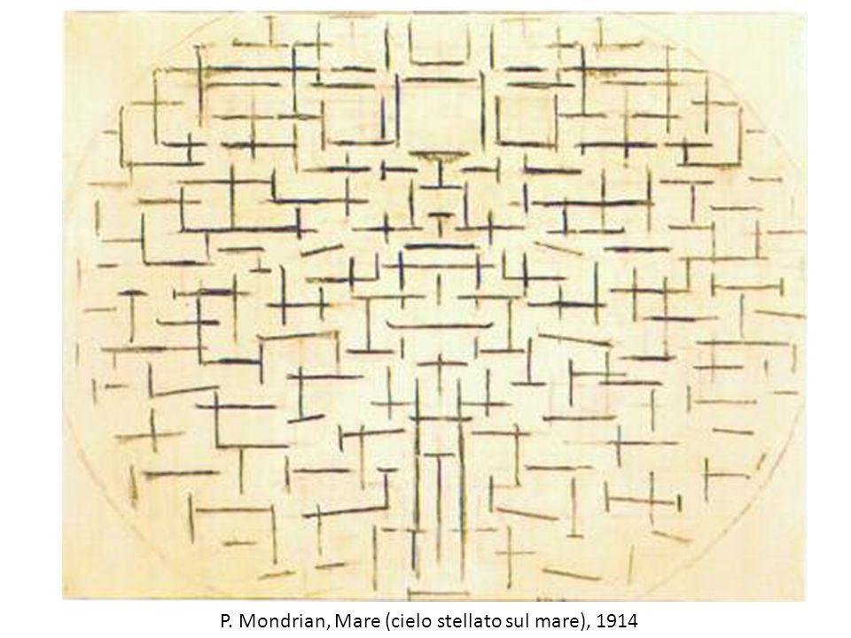 P. Mondrian, Mare (cielo stellato sul mare), 1914