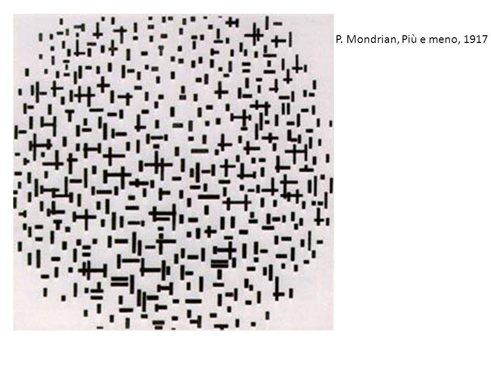 P. Mondrian, Più e meno, 1917