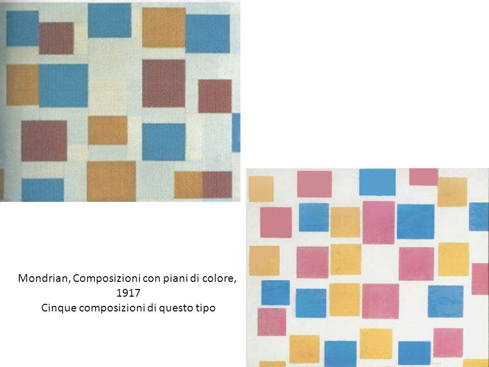 Mondrian, Composizioni con piani di colore, 1917 Cinque composizioni di questo tipo