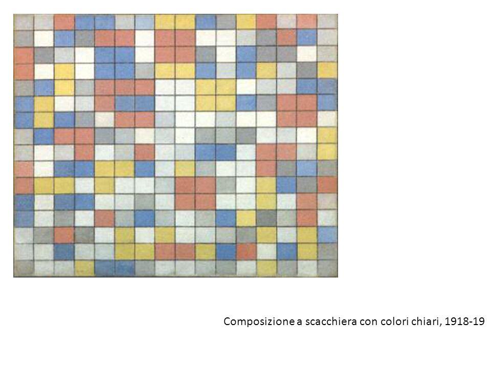 Composizione a scacchiera con colori chiari, 1918-19