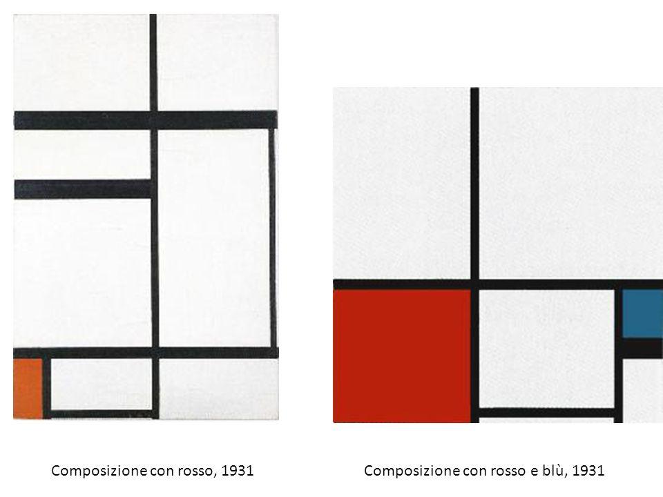 Composizione con rosso, 1931Composizione con rosso e blù, 1931