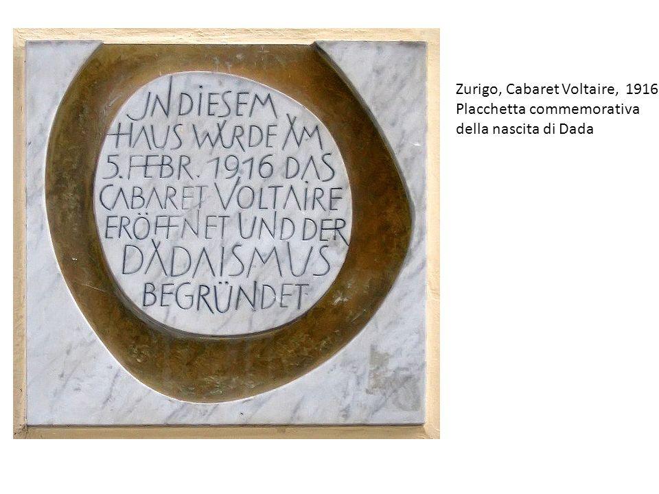 Zurigo, Cabaret Voltaire, 1916 Placchetta commemorativa della nascita di Dada