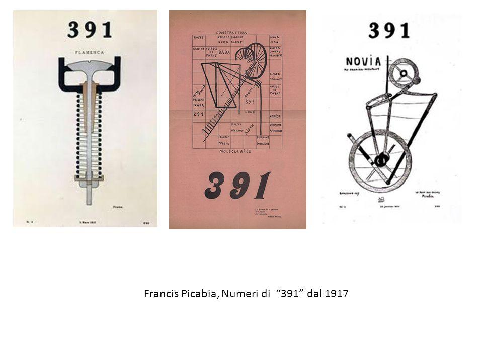 """Francis Picabia, Numeri di """"391"""" dal 1917"""
