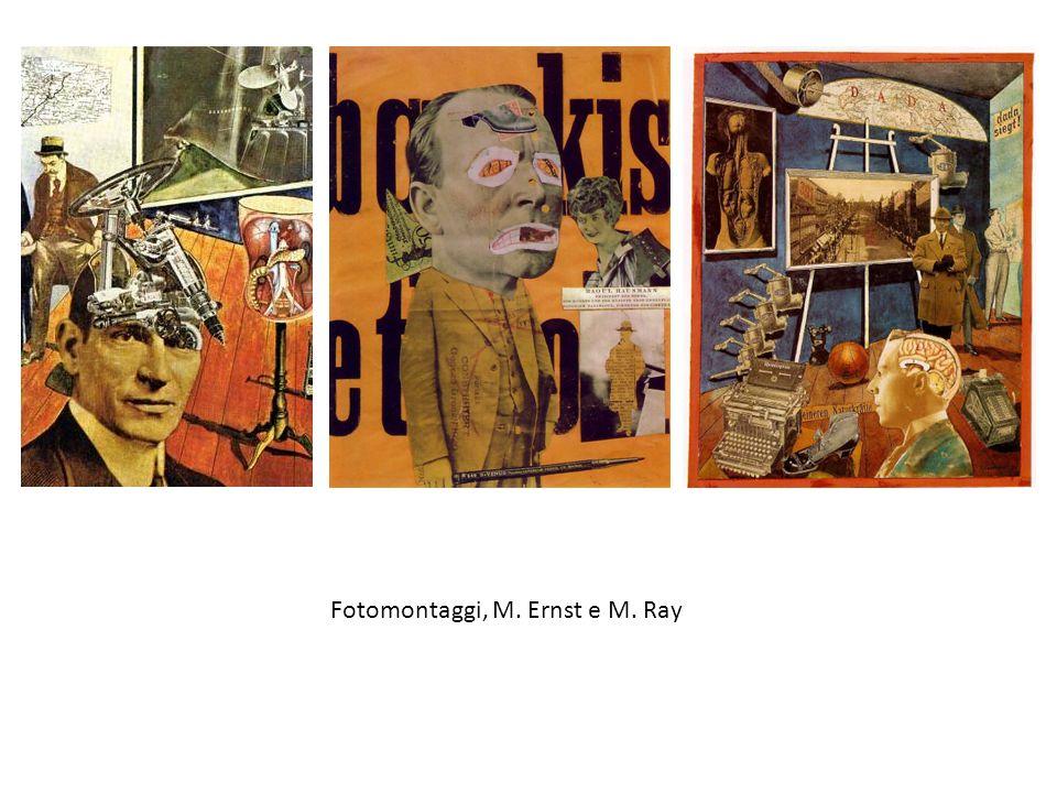 Fotomontaggi, M. Ernst e M. Ray