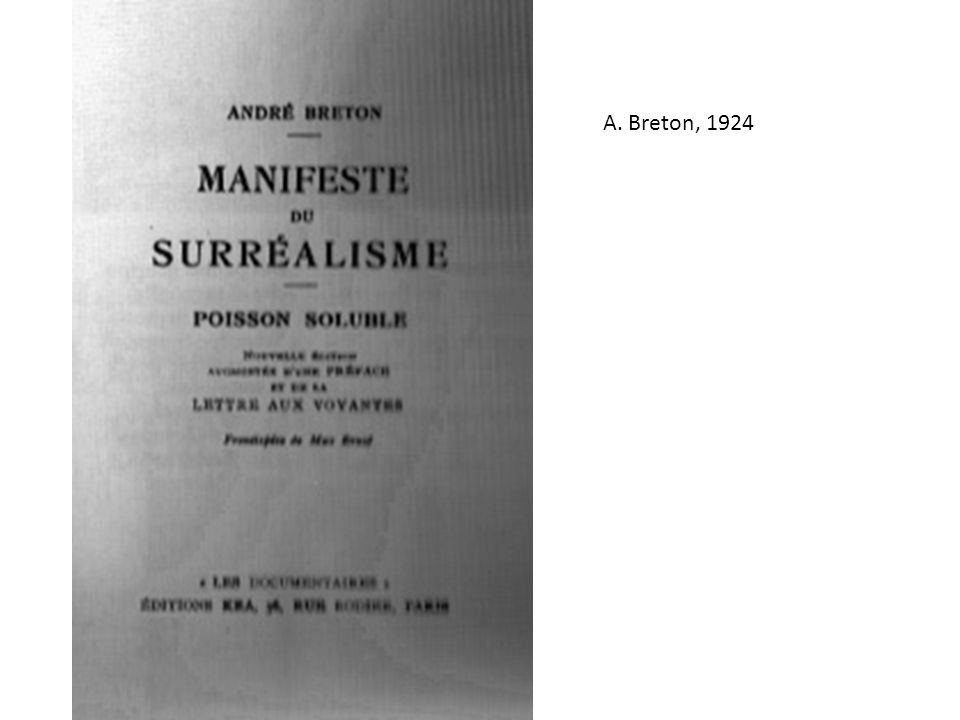 A. Breton, 1924