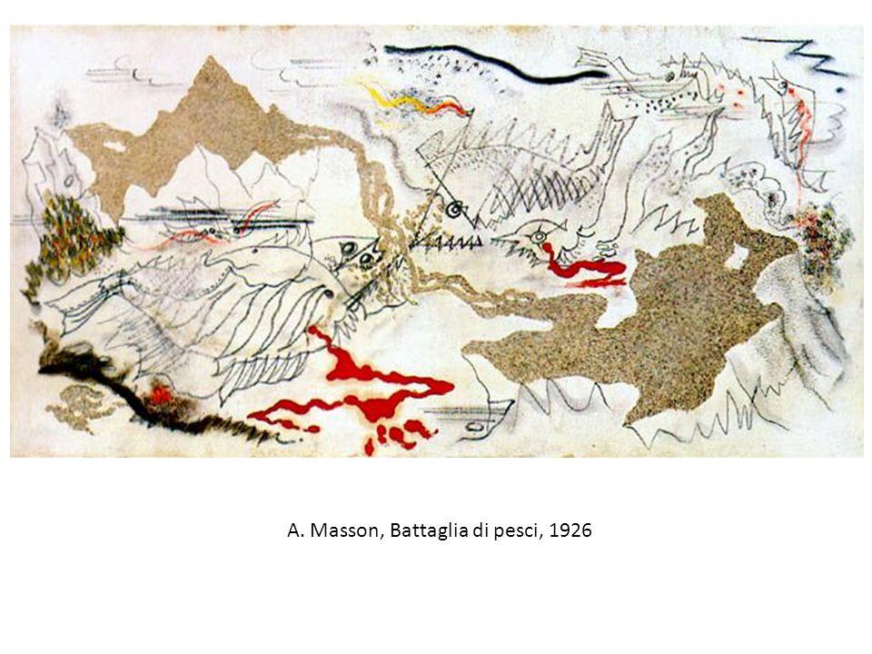A. Masson, Battaglia di pesci, 1926