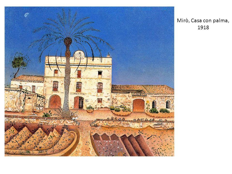 Mirò, Casa con palma, 1918