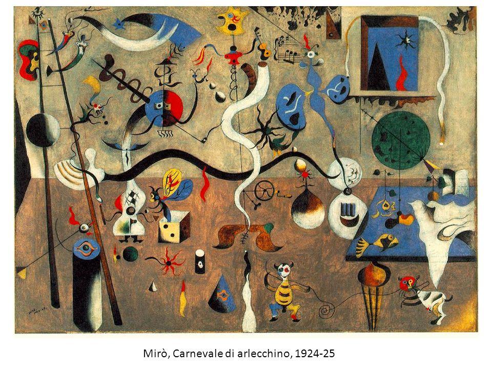 Mirò, Carnevale di arlecchino, 1924-25