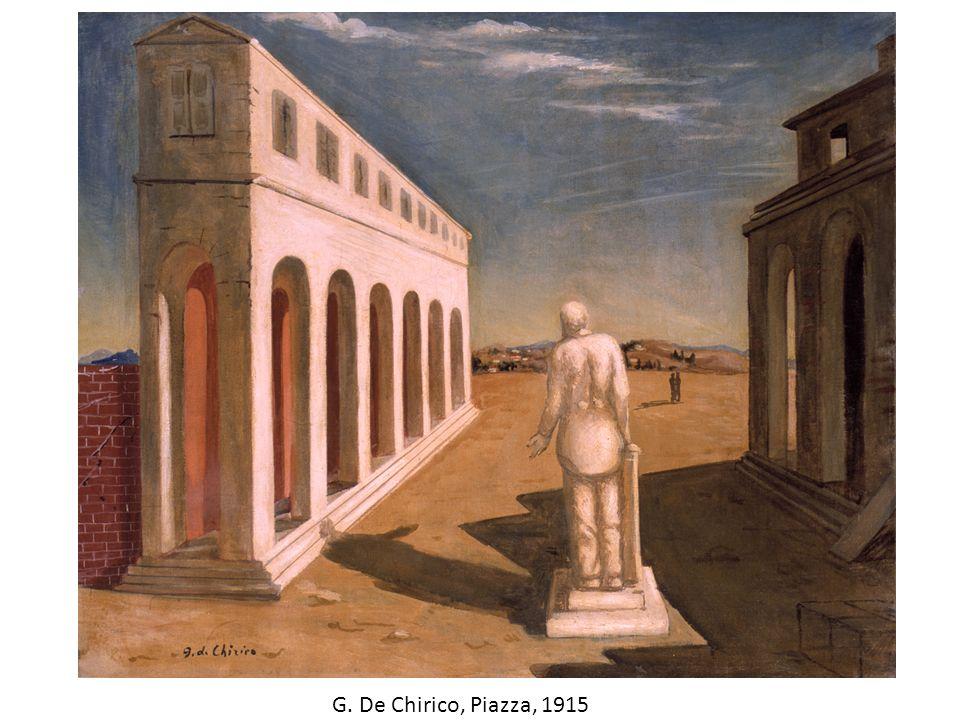 G. De Chirico, Piazza, 1915