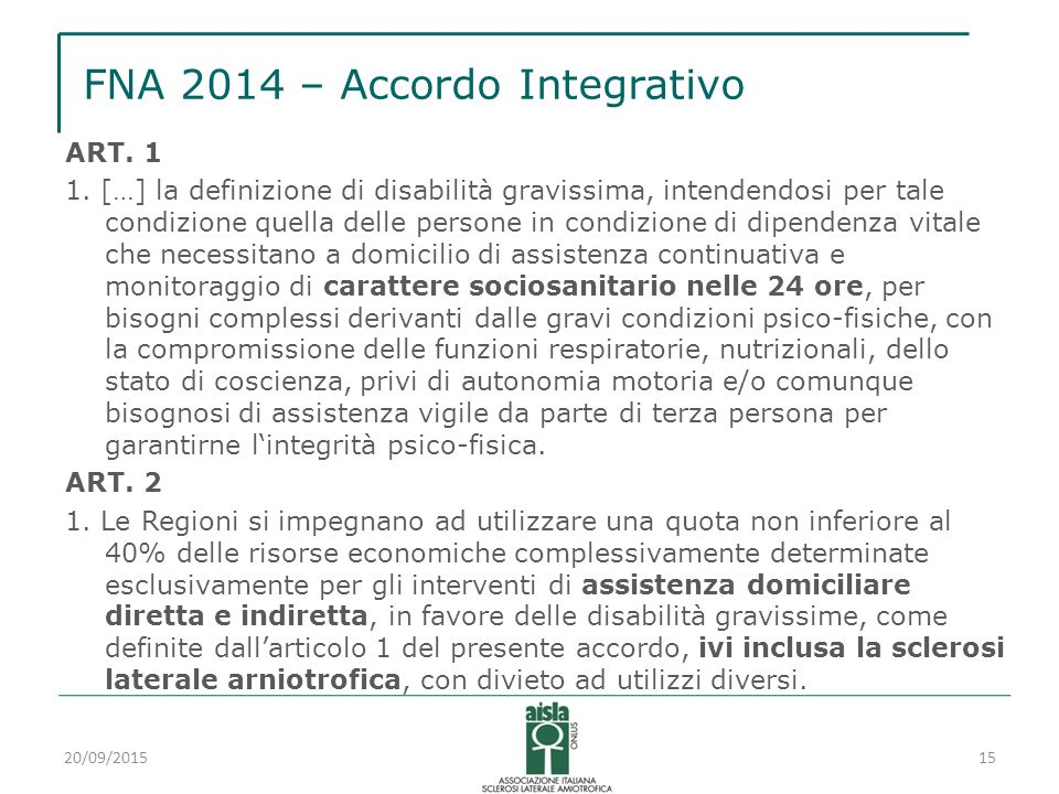 FNA 2014 – Accordo Integrativo ART. 1 1.