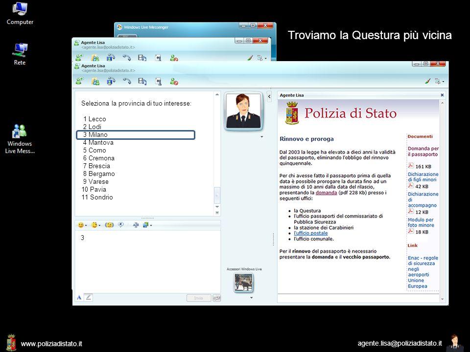 www.poliziadistato.it agente.lisa@poliziadistato.it Rinnovo o proroga: dal 2003 non c'è più l'obbligo del rinnovare il passaporto dopo 5 anni. La dura