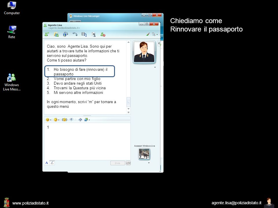 www.poliziadistato.it agente.lisa@poliziadistato.it Agente Lisa agente.lisa@poliziadistato.it
