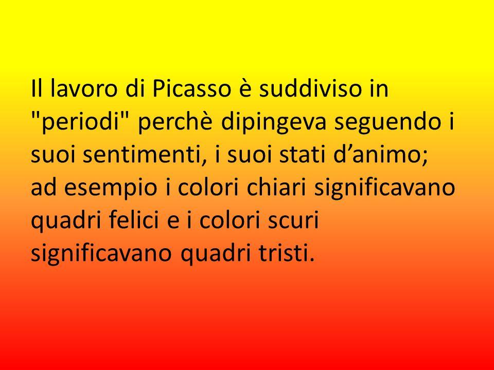 Il lavoro di Picasso è suddiviso in