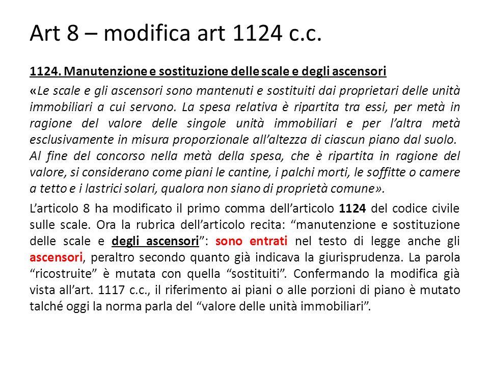 Art 8 – modifica art 1124 c.c.1124.