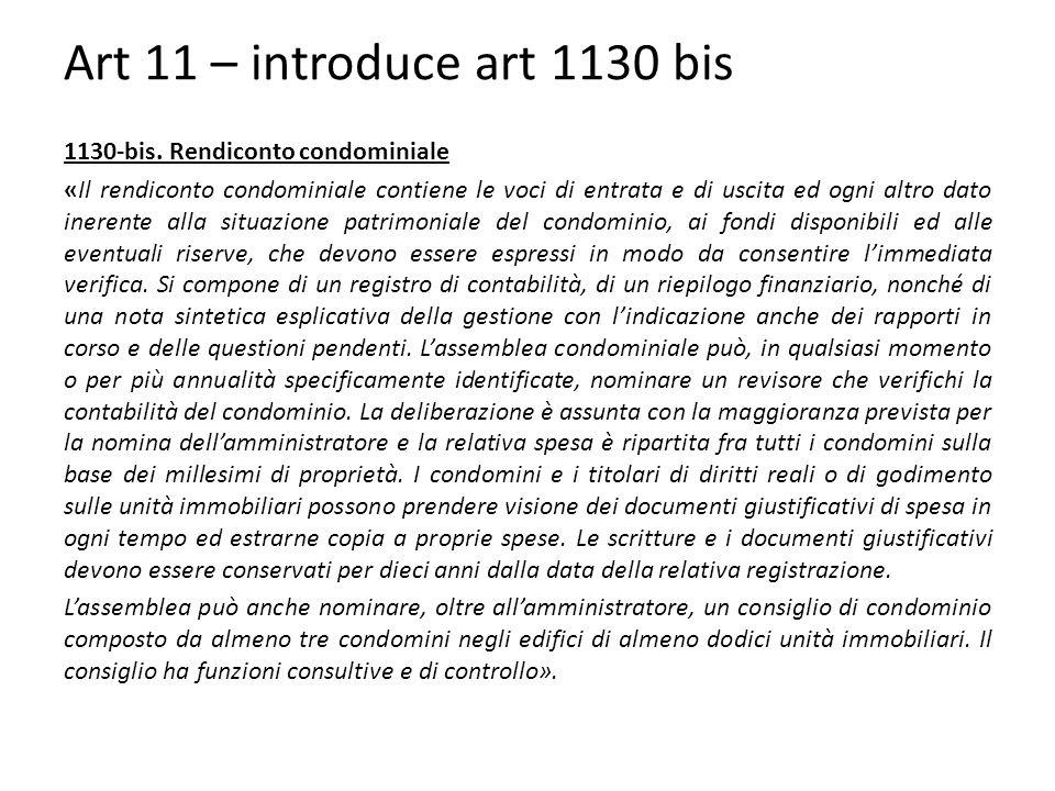 Art 11 – introduce art 1130 bis 1130-bis.