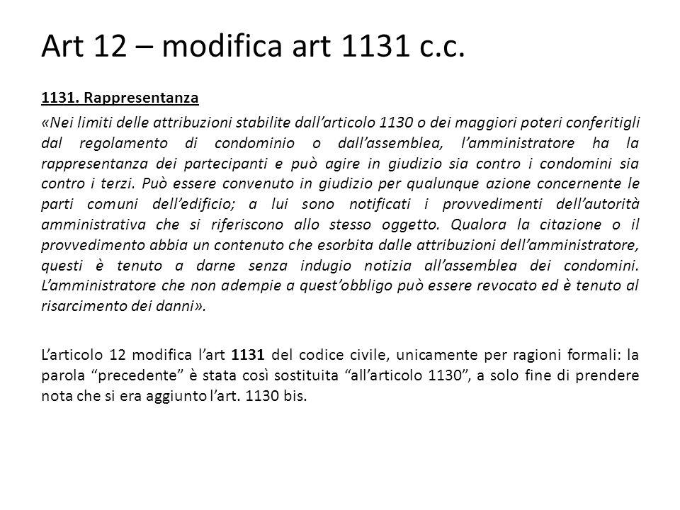 Art 12 – modifica art 1131 c.c.1131.