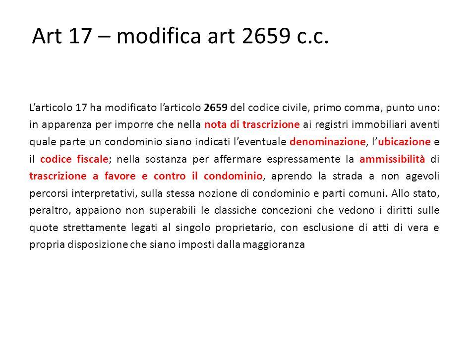 Art 17 – modifica art 2659 c.c.