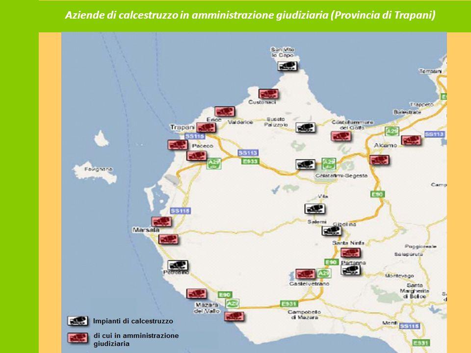 Aziende di calcestruzzo in amministrazione giudiziaria (Provincia di Trapani)