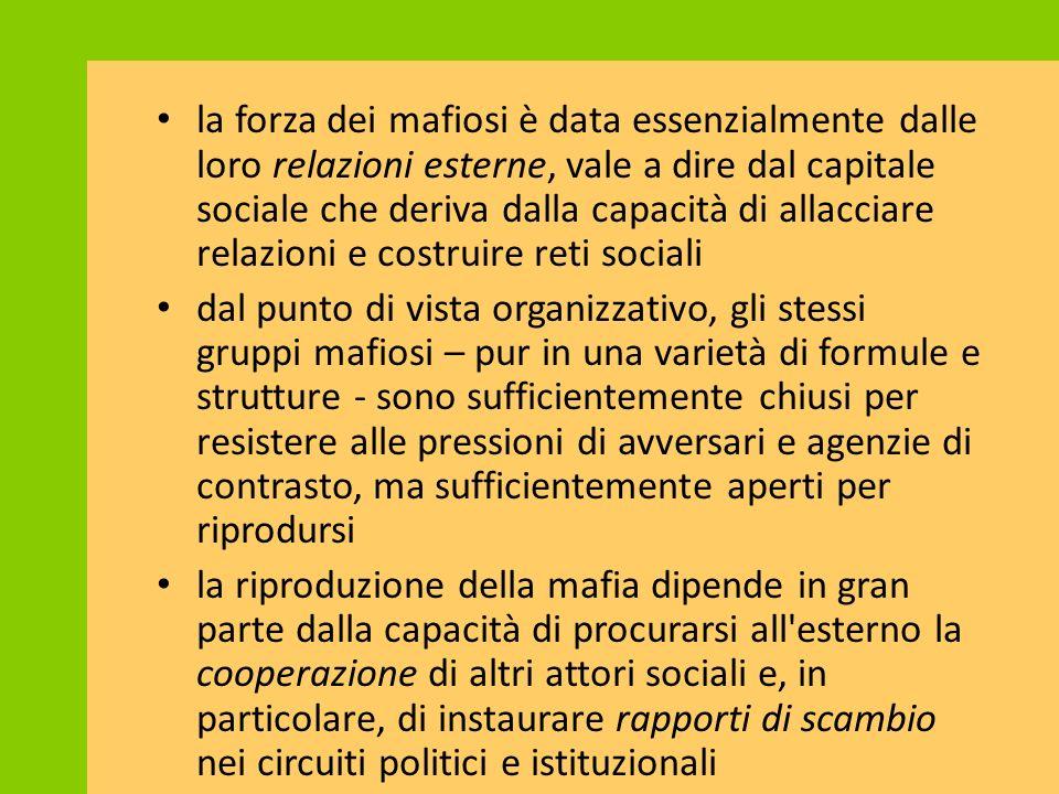 Costi del crimine organizzato: power syndicate % Mezzogiorno su Italia Associazione mafiosa89,6% Omicidi per mafia89,0% Estorsioni61,8% Beni confiscati84,2% Scioglimenti consigli comunali99,8%