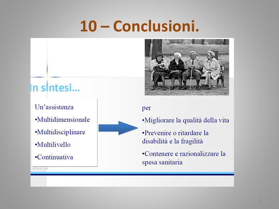 10 – Conclusioni. 18