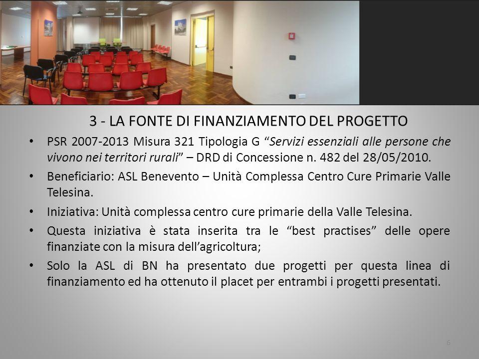 4 - Dati tecnici del progetto.