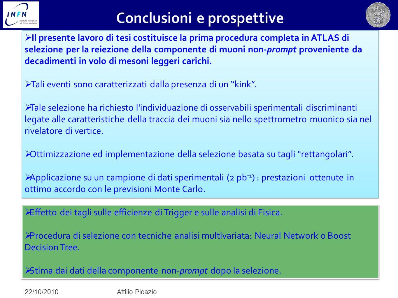  Il presente lavoro di tesi costituisce la prima procedura completa in ATLAS di selezione per la reiezione della componente di muoni non-prompt prove