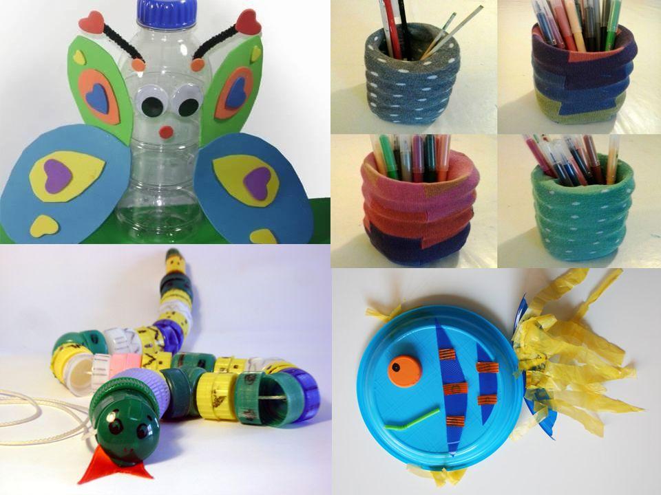RIUTILIZZARE: Sapete che vetro, carta, plastica, alluminio possono essere riutilizzati per costruire nuovi oggetti? Vediamo insieme cosa si può creare