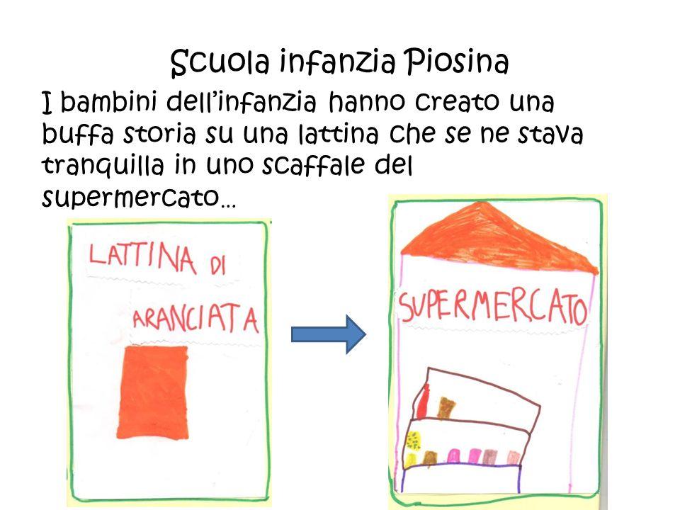 Scuola infanzia Piosina I bambini dell'infanzia hanno creato una buffa storia su una lattina che se ne stava tranquilla in uno scaffale del supermerca