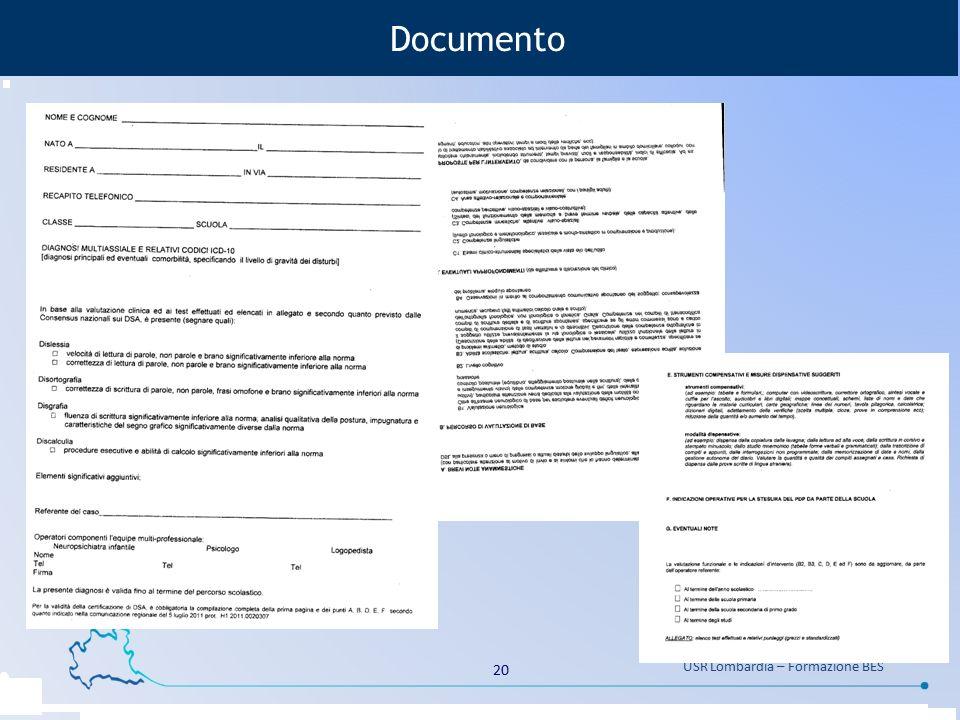 20 USR Lombardia – Formazione BES Documento