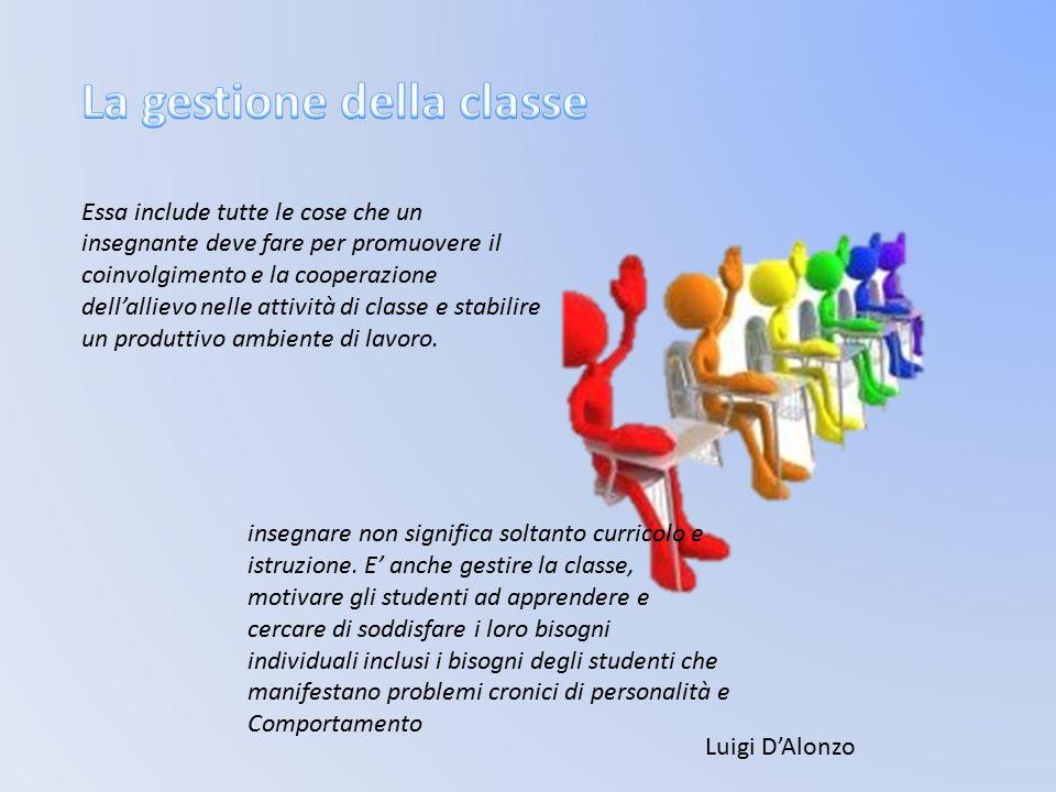 insegnare non significa soltanto curricolo e istruzione. E' anche gestire la classe, motivare gli studenti ad apprendere e cercare di soddisfare i lor