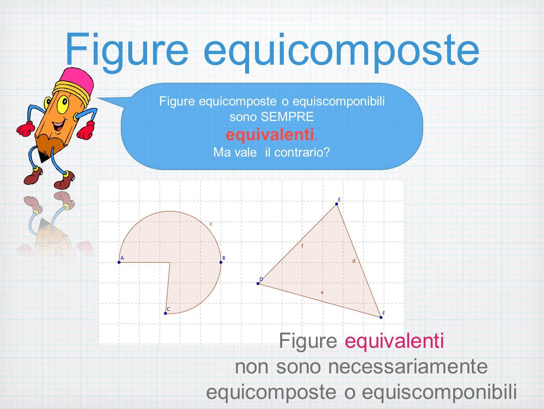 Figure equicomposte Figure equicomposte o equiscomponibili sono SEMPRE equivalenti.